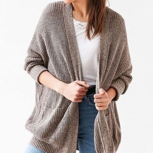 BDG Parker Cardigan in Taupe